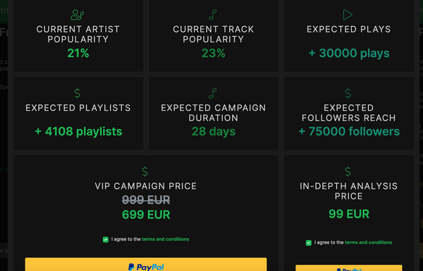 How can I check how many playlists added my song through the Matchfy.io VIP plan?